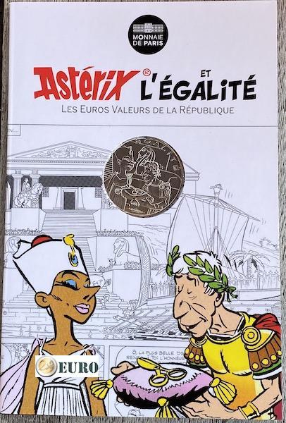 10 euros France 2015 - Asterix égalité Cléopâtre - en cartelette