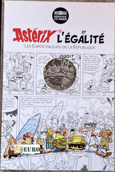 10 euros France 2015 - Asterix égalité gladiateur - en cartelette