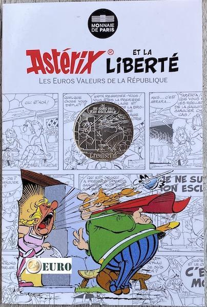 10 euros France 2015 - Asterix Liberté La Rose et le Glaive - en cartelette
