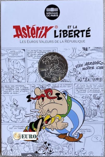 10 euros France 2015 - Asterix Liberté Le Cadeau de César - en cartelette