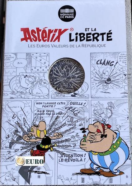 10 euros France 2015 - Asterix Liberté Le Tour de Gaule d'Astérix chaînes - en cartelette