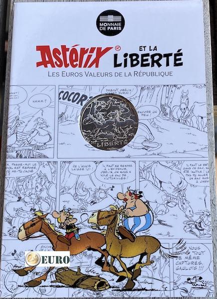 10 euros France 2015 - Asterix Liberté Le Tour de Gaule d'Astérix - en cartelette