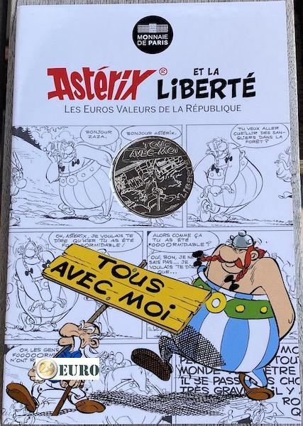 10 euros France 2015 - Asterix Liberté Manifestation - en cartelette