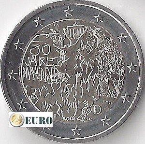2 euros Allemagne 2019 - F Mur de Berlin UNC