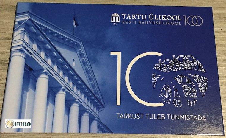2 euros Estonie 2019 - Université de Tartu BU FDC Coincard