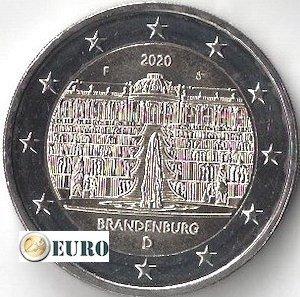 2 euros Allemagne 2020 - F Brandebourg UNC