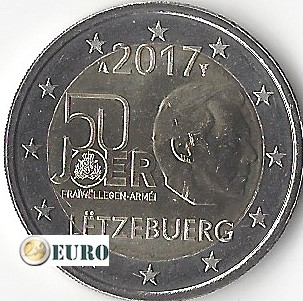 2 euros Luxembourg 2017 - Service Militaire Volontaire UNC