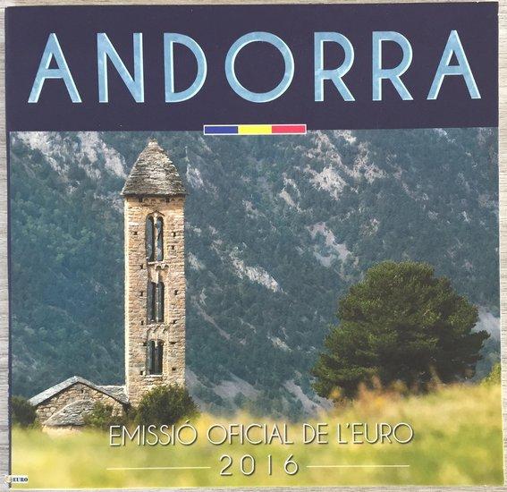 Série euro BU FDC Andorre 2016
