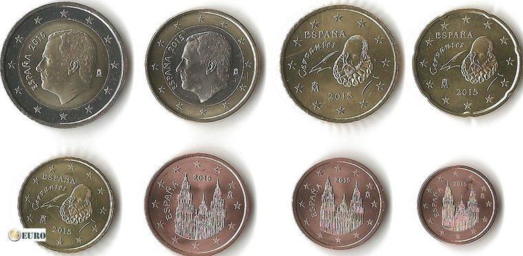 Série euro UNC Espagne 2015