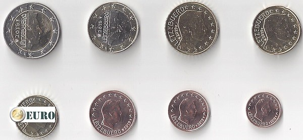 Série euro UNC Luxembourg 2019