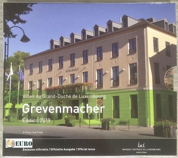 Série euro BU FDC Luxembourg 2019 Grevenmacher + 2 euros Charlotte