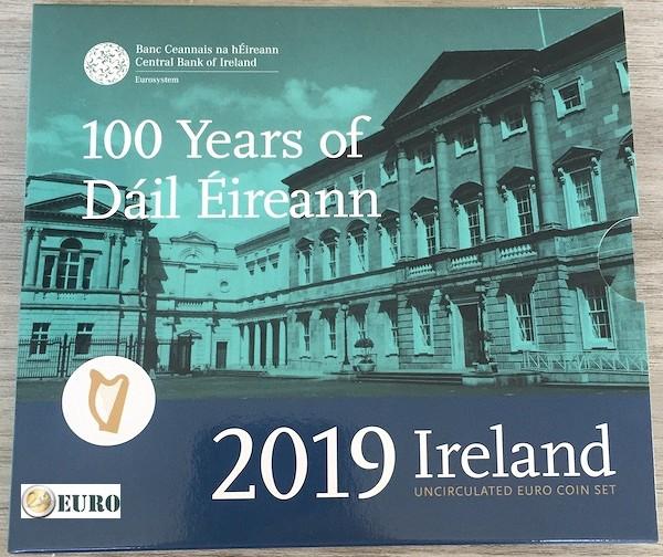 Série euro BU FDC Irlande 2019 + 2 euros Dail