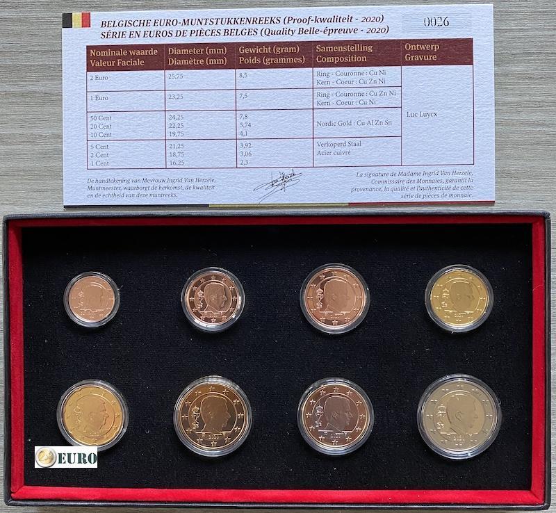 Série euro BE Proof Belgique 2020