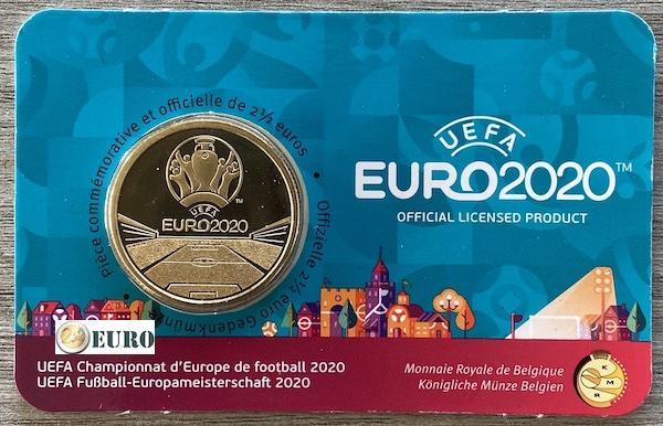 2,50 euros Belgique 2021 - Championnat d'Europe UEFA EURO 2020 BU FDC Coincard FR