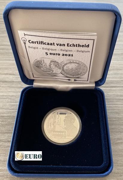 5 euros Belgique 2021 - Charles Van Depoele BE Proof Argent