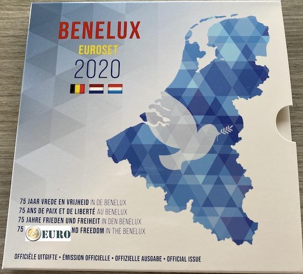 Série en euro BU FDC Benelux 2020 Paix en Europe