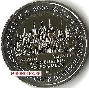 Allemagne 2007 - 2 euro F Mecklembourg-Poméraine occidentale UNC