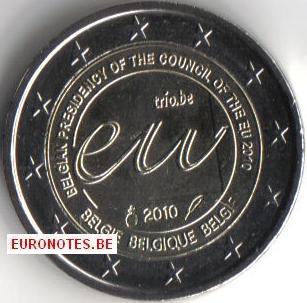 Belgique 2010 - 2 euros Présidence UE UNC
