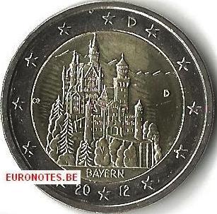Allemagne 2012 - 2 euro D Bavière UNC
