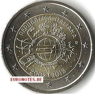 Italie 2012 - 2 euro 10 ans euro UNC