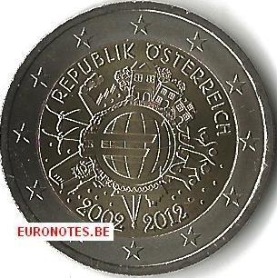Autriche 2012 - 2 euro 10 ans euro UNC