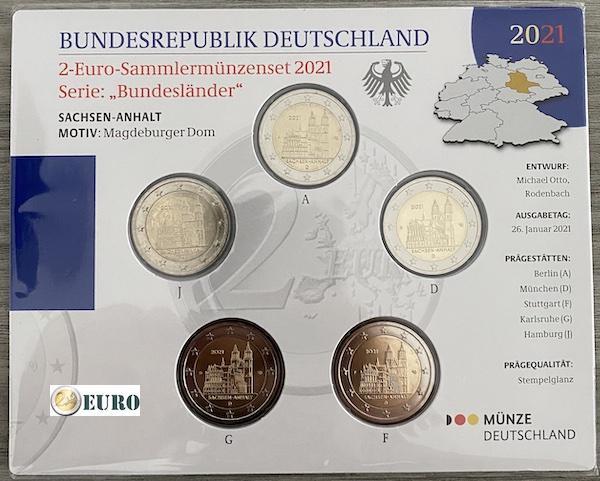 2 euros Allemagne 2021 - ADFGJ Saxe-Anhalt BU FDC