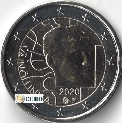 2 euros Finlande 2020 - Vaino Linna UNC