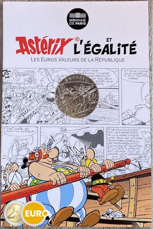 10 euros France 2015 - Asterix égalité Aux Jeux Olympiques - en cartelette
