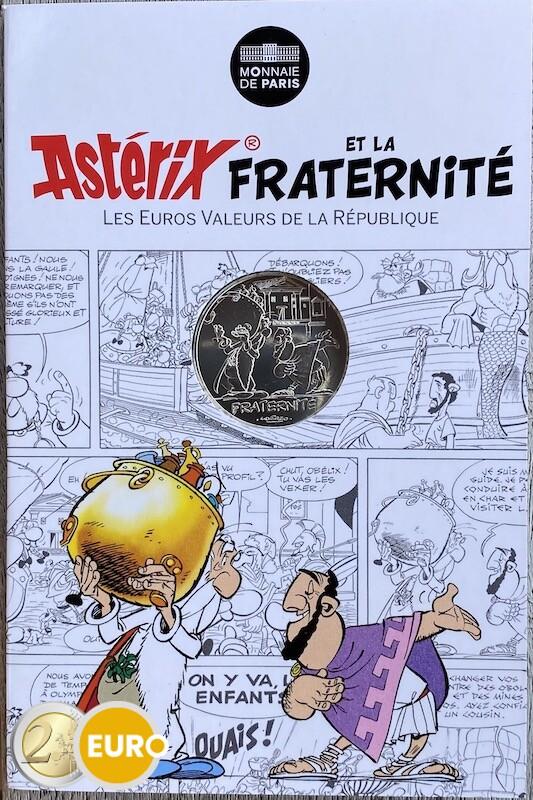 10 euros France 2015 - Asterix fraternité Aux Jeux Olympiques - en cartelette