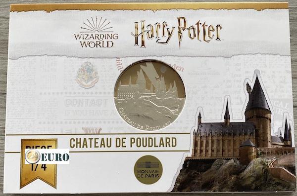 50 euros France 2021 - Harry Potter Château de Poudlard BE Proof Argent colorisé