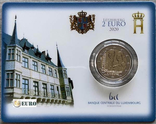 2 euros Luxembourg 2020 - Charles de Luxembourg BU FDC Coincard