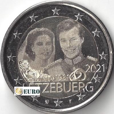 2 euros Luxembourg 2021 - 40 ans mariage Henri UNC Photo