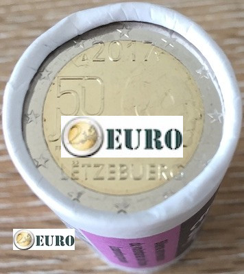 Rouleau 2 euros Luxembourg 2017 - Service Militaire Volontaire