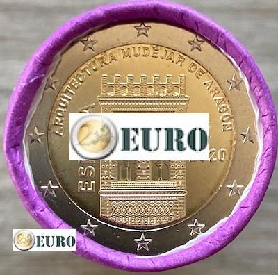 Rouleau 2 euros Espagne 2020 - Mudéjar Aragon