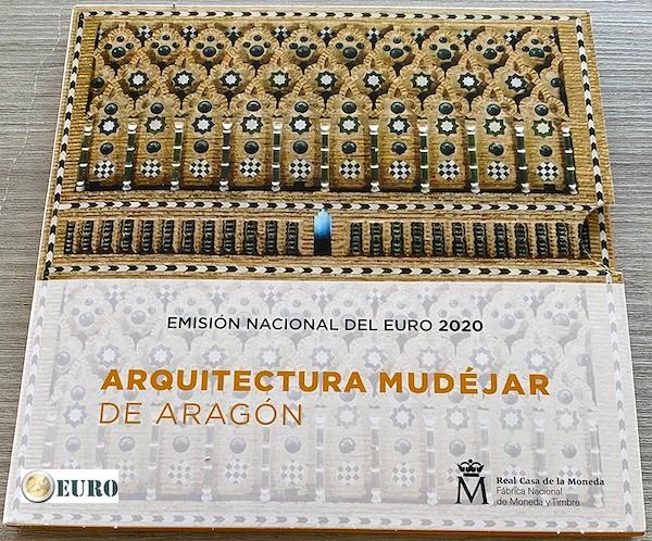Série euro BU FDC Espagne 2020 + 2 euros Aragon