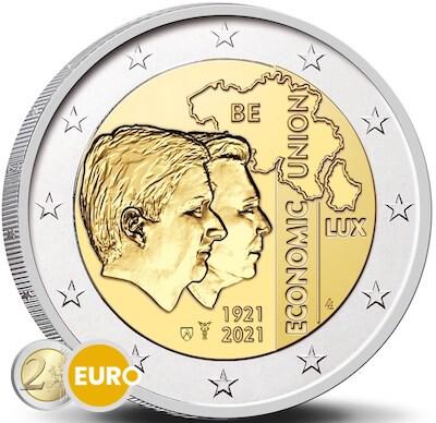 2 euros Belgique 2021 - 100 ans UEBL UNC