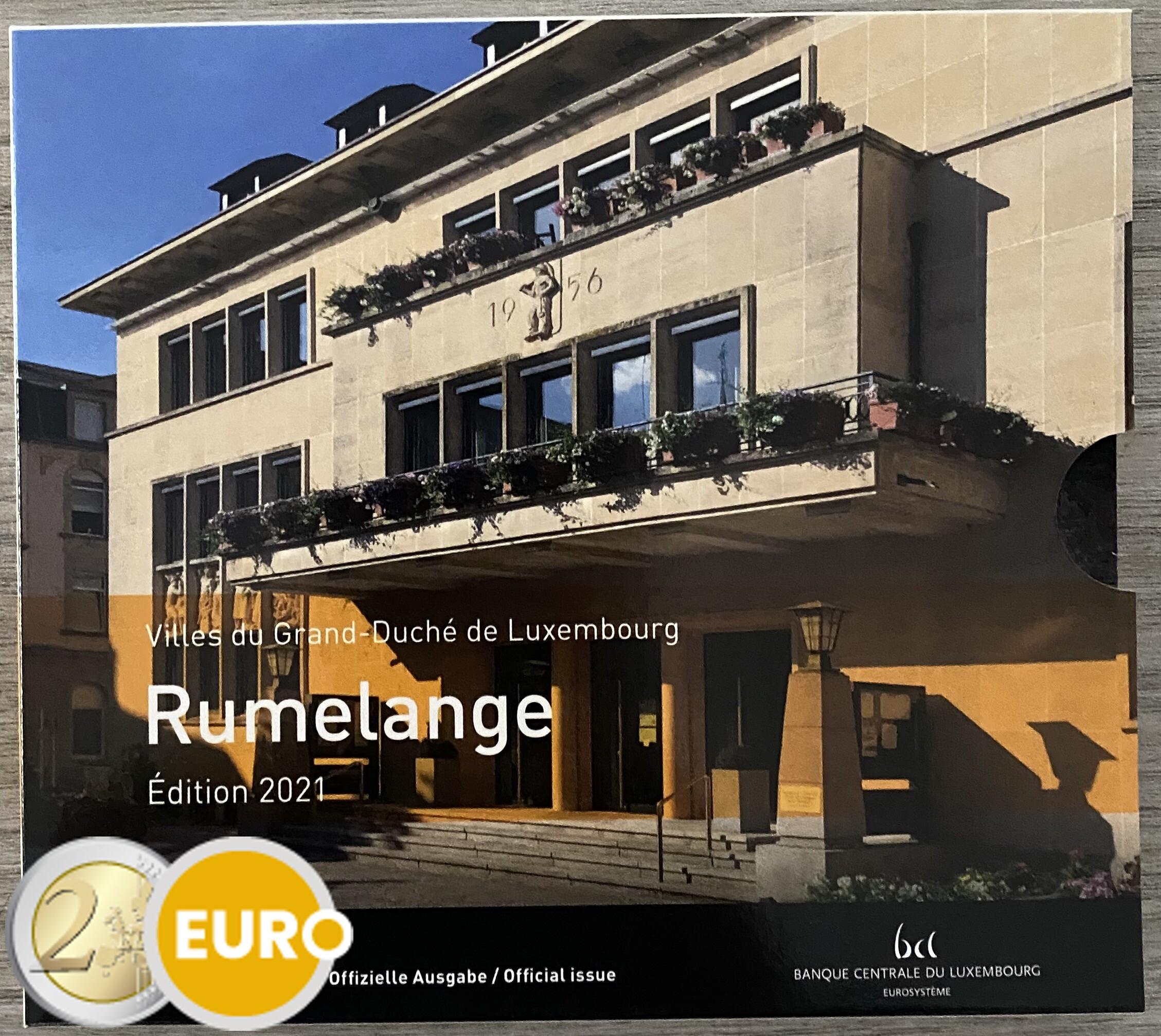 Série euro BU FDC Luxembourg 2021 Rumelange + 2 euros mariage Henri photo