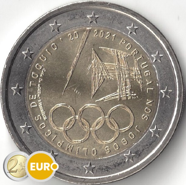 2 euros Portugal 2021 - Jeux Olympiques UNC