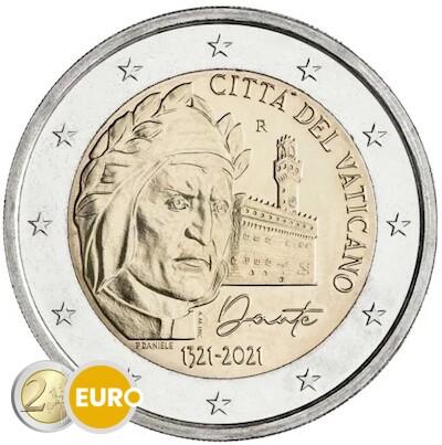 2 euros Vatican 2021 - Dante Alighieri BU FDC