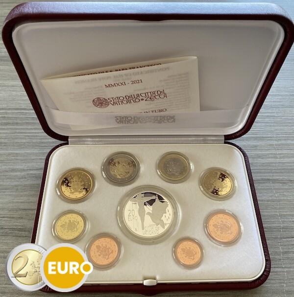 Série euro BE Proof Vatican 2021 + 20 euros argent