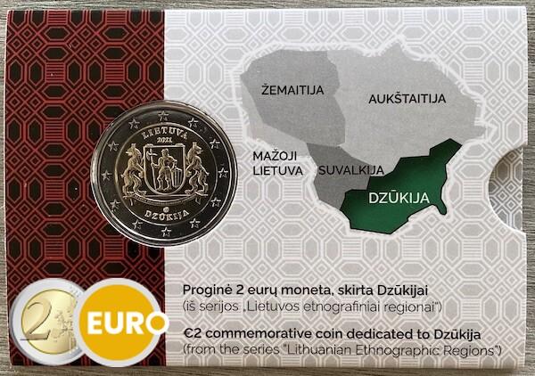 2 euros Lituanie 2021 - Région de Dzukija BU FDC Coincard