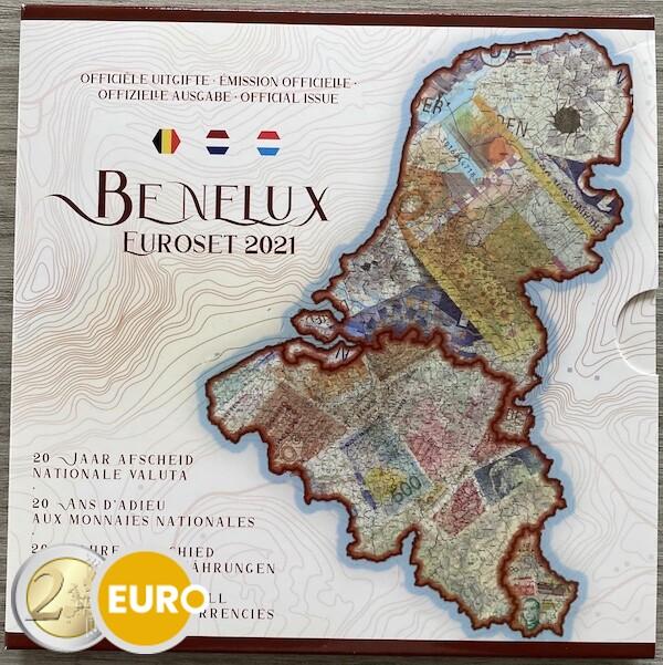 Série en euro BU FDC Benelux 2021 Anciennes monnaies