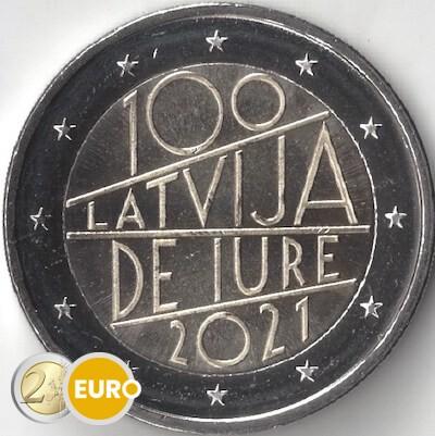 2 euros Lettonie 2021 - Reconnaissance Internationale UNC