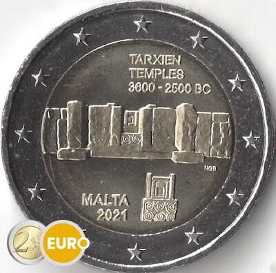 2 euros Malte 2021 - Temple Tarxien UNC