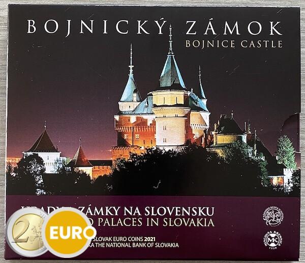 Série euro BU FDC Slovaquie 2021 - Château de Bojnice